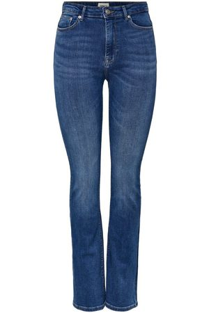 Only Onlpaola Life Hw Flared Jeans Dames Blauw
