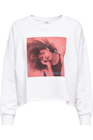 Only Dames Sweaters - Cropped Sweatshirt Dames White