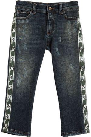 Dolce & Gabbana Stretch Cotton Jeans W/ Logo Bands