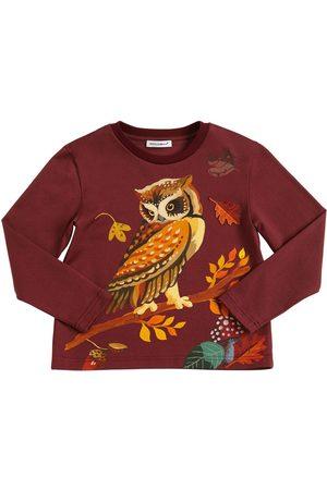 Dolce & Gabbana Owl Printed Jersey Long Sleeve T-shirt
