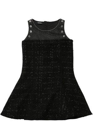 Diesel Patchwork Bouclè & Denim Dress