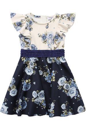 MONNALISA Floral Print Neoprene Dress