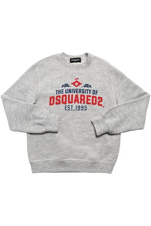 Dsquared2 University Printed Cotton Sweatshirt