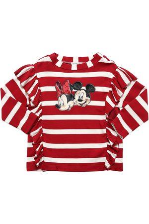 MONNALISA Minnie & Mickey L/s Viscose T-shirt
