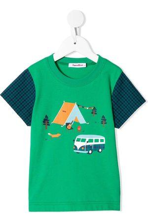 Familiar Camping-print T-shirt