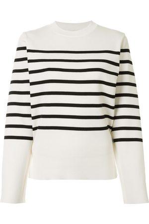 AKIRA NAKA Cut-out striped pullover