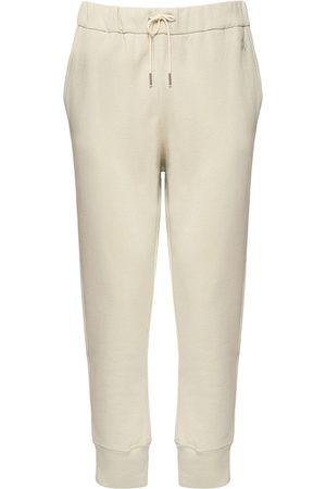 Jil Sander Logo Embroidery Cotton Sweatpants