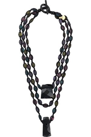 Giorgio Armani Pre-Owned 2000s layered bead necklace