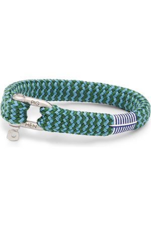 pig & hen Heren Armbanden - Armband sharp simon silver-jungle green