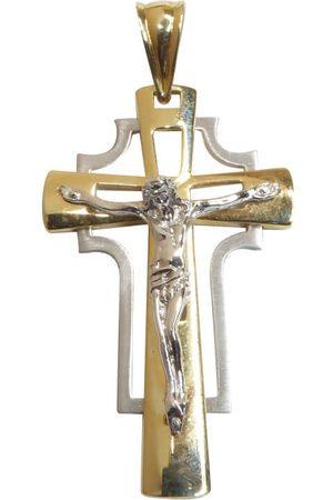 Christian Heren Kettingen - Bicolor gouden heren kruis