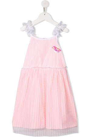 Billieblush Vertical stripe sequin embroidered dress