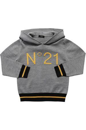 Nº21 Logo Knit Wool Blend Sweater Hoodie
