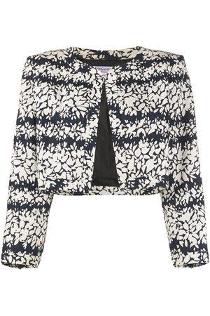 Yves Saint Laurent 1990s floral print cropped jacket