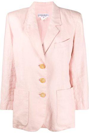 Yves Saint Laurent 1990s oversized buttoned blazer
