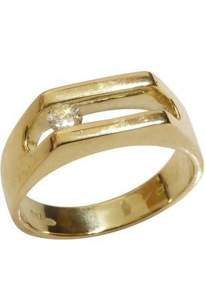 Christian Gouden swinging diamant cachet ring