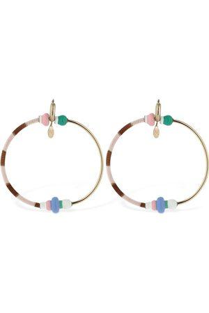 Missoni Half Knit Big Hoop Earrings
