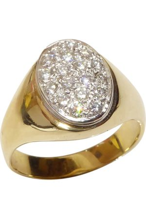 Christian Heren Ringen - Gouden diamanten cachet ring