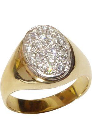 Christian Heren Ringen - Gouden diamanten cachet ring