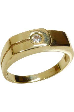 Christian Gouden cachet ring met zirkonia