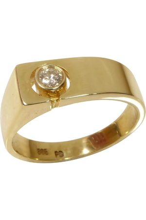 Christian Heren Ringen - Cachet ring met diamant