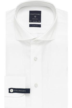 Profuomo Heren Overhemden - Overhemd extra lange mouw effen heren