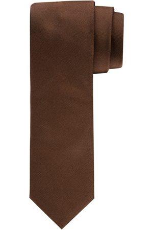 Profuomo Heren Stropdassen - Camel oxford matte zijden stropdas heren