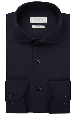 Profuomo Heren overhemd navy effen