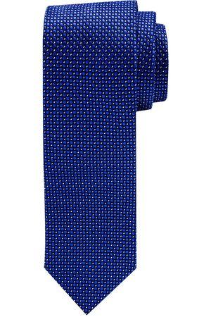 Profuomo Royal blauwe dessin zijden stropdas heren