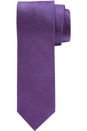 Profuomo Heren Stropdassen - Fuchsia getextureerd dessin zijden stropdas heren