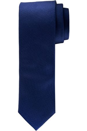 Profuomo Navy oxford matte zijden stropdas heren