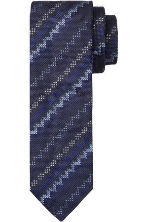 Profuomo Navy print zijden stropdas heren