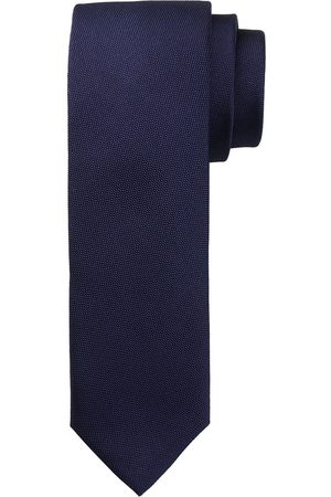 Profuomo Navy oxford smalle zijden stropdas heren