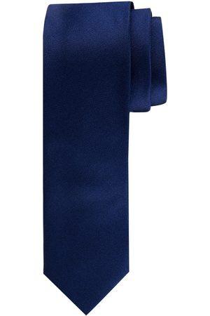 Profuomo Navy oxford smalle matte zijden stropdas heren