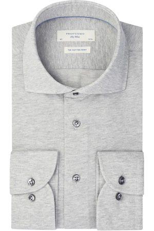 Profuomo Mercerised knitted overhemd Sky Blue heren
