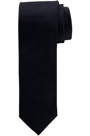 Profuomo Zwarte oxford zijden stropdas heren