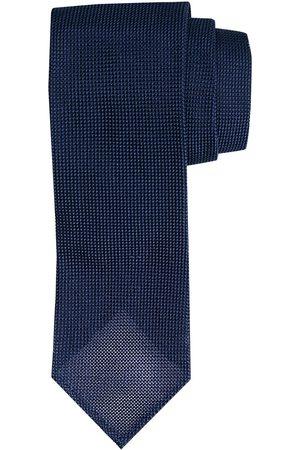 Profuomo Navy open-binding 3-fold zijden stropdas heren