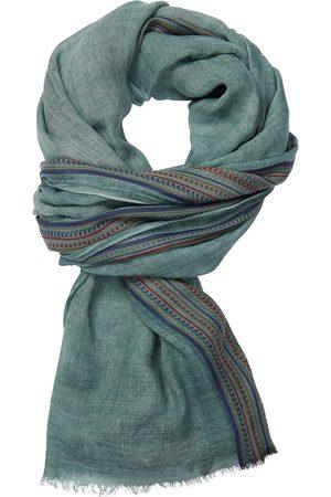Profuomo Groene geweven sjaal heren
