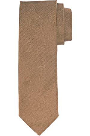 Profuomo Camel ribs zijden stropdas heren