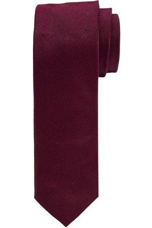 Profuomo Heren Stropdassen - Bordeaux oxford smalle zijden stropdas heren