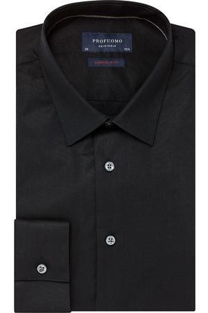 Profuomo Heren overhemd effen stretch