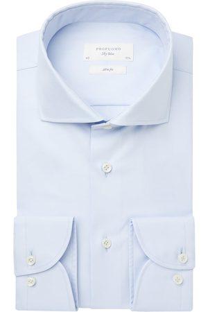 Profuomo Heren overhemd effen italiaanse stof