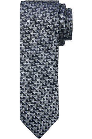 Profuomo Grijze zijden stropdas heren