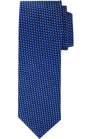 Profuomo Navy structuur zijden stropdas heren