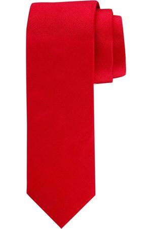 Profuomo Rode oxford zijden stropdas heren