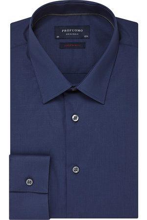 Profuomo Heren overhemd navy effen stretch