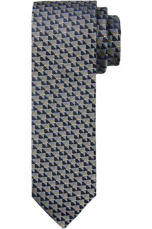 Profuomo Grijze print zijden stropdas heren