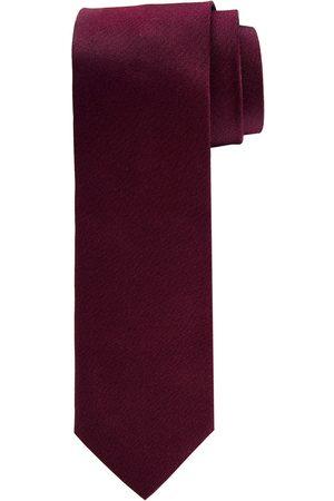 Profuomo Bordeaux oxford matte zijden stropdas heren