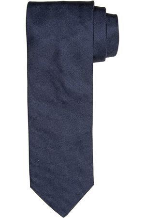 Profuomo Navy oxford zijden stropdas heren