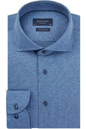 Profuomo Mid- single jersey knitted overhemd Originale heren
