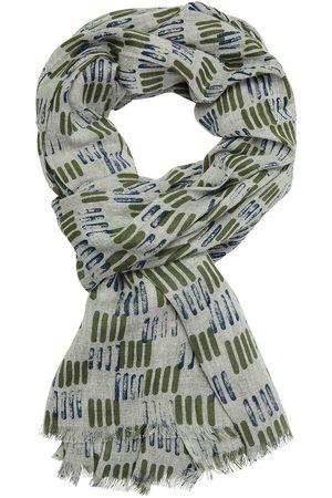 Profuomo Groene print sjaal heren
